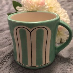 Anthropologie Monogram Hand Painted Mug